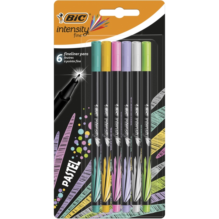 Intensity Fineliner 6-set Pastel Colors in the group Pens / Writing / Fineliners at Pen Store (100238)
