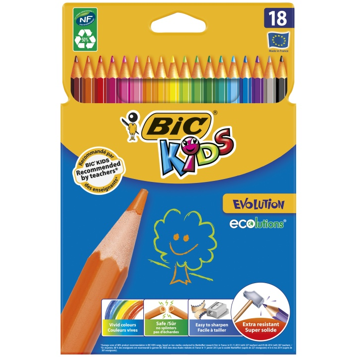 Kids Evolution Coloring Pencils 18-set in the group Kids / Kids' Pens / 5 Years+ at Pen Store (100242)