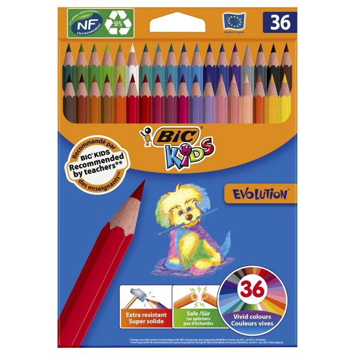 Kids Evolution Coloring Pencils 36-set in the group Kids / Kids' Pens / 5 Years+ at Pen Store (100243)