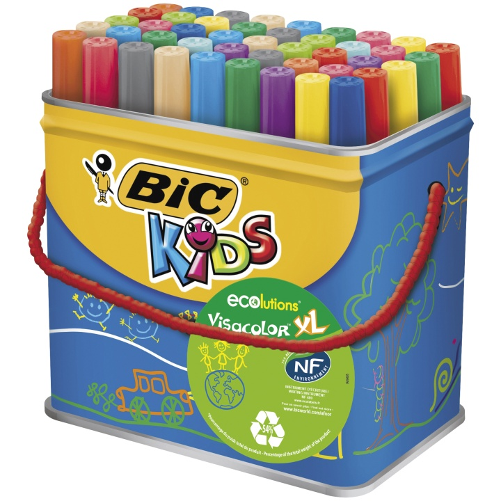 Kids Visacolor XL Fiber-tip pens 48-set in the group Kids / Kids' Pens / 3 Years+ at Pen Store (100249)