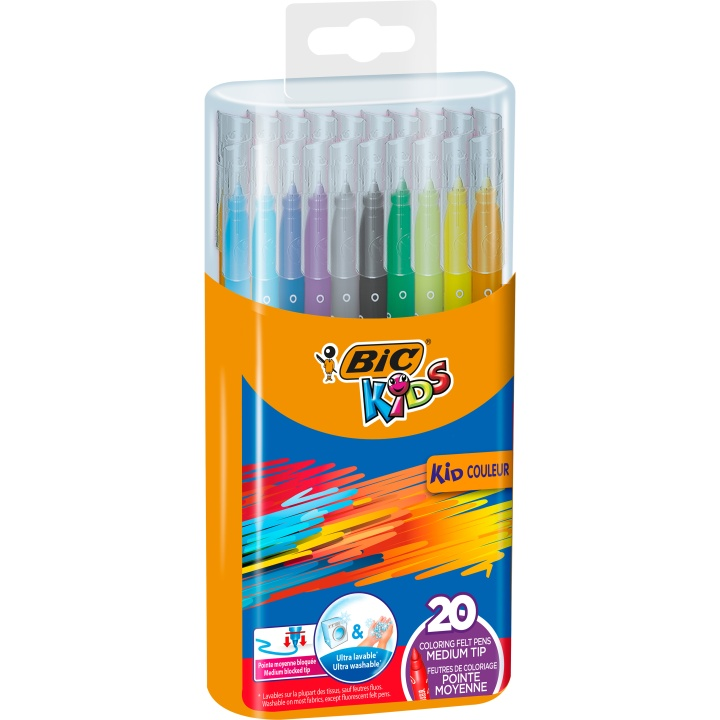 Kids Couleur Felt-tip Pens 20-set in the group Kids / Kids' Pens / 5 Years+ at Pen Store (100253)