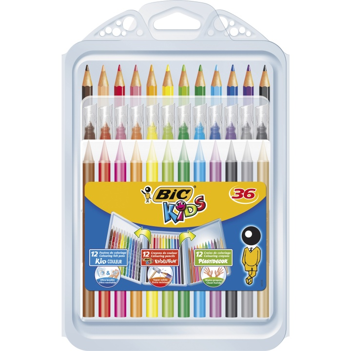 Kids Coloring kit 1 - 36 pieces in the group Kids / Kids' Pens / Crayons for Kids at Pen Store (100260)