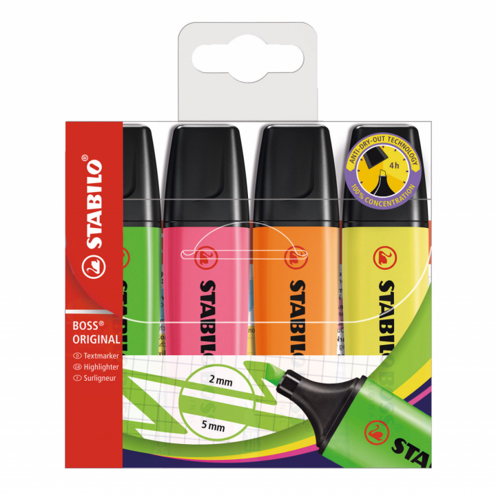 Boss 4-pack in the group Pens / Office / Highlighters at Pen Store (100304)