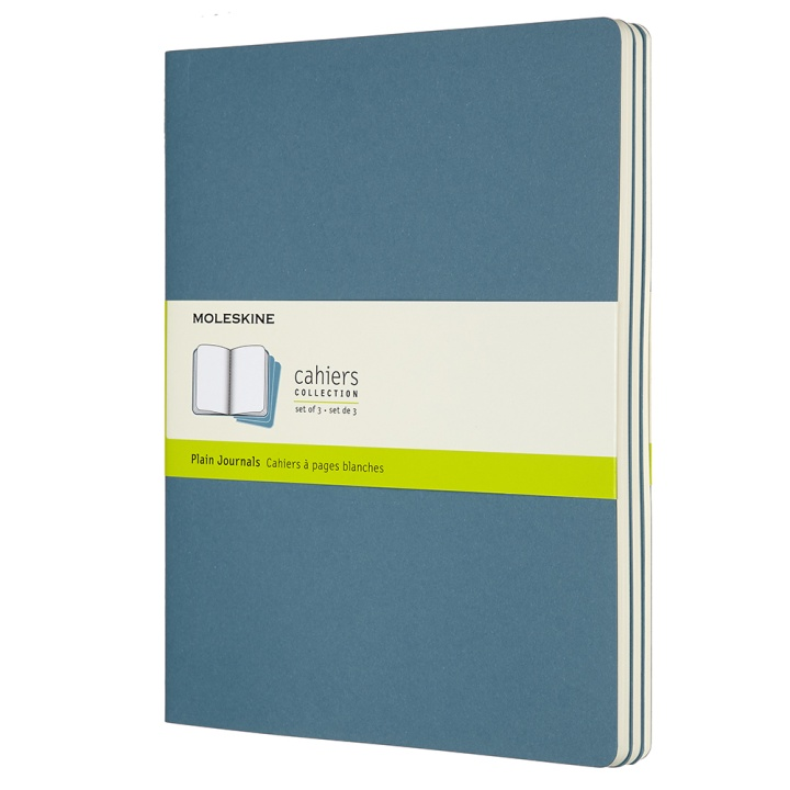 Cahier XL Brisk Blue Plain in the group Paper & Pads / Note & Memo / Writing & Memo Pads at Pen Store (100331)