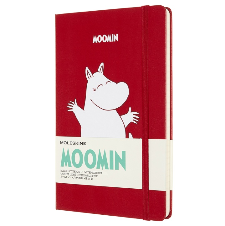 Hardcover Large Moomin Red Ruled in the group Paper & Pads / Note & Memo / Notebooks & Journals at Pen Store (100372)