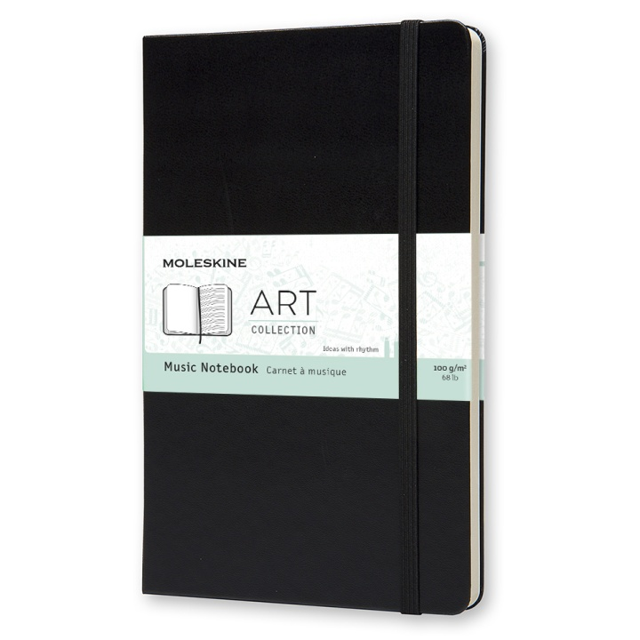 Art Music Notebook Large Black in the group Paper & Pads / Note & Memo / Notebooks & Journals at Pen Store (100376)