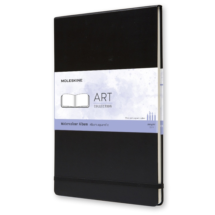 Watercolor Album A4 Black in the group Paper & Pads / Artist Pads & Paper / Sketchbooks at Pen Store (100379)