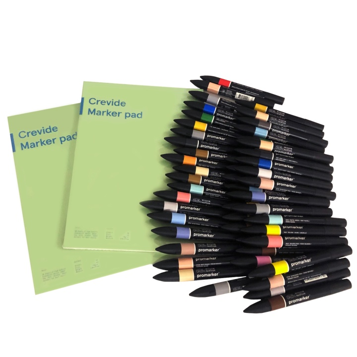 ProMarker 50+ Set in the group Pens / Artist Pens / Illustration Markers at Pen Store (100548)