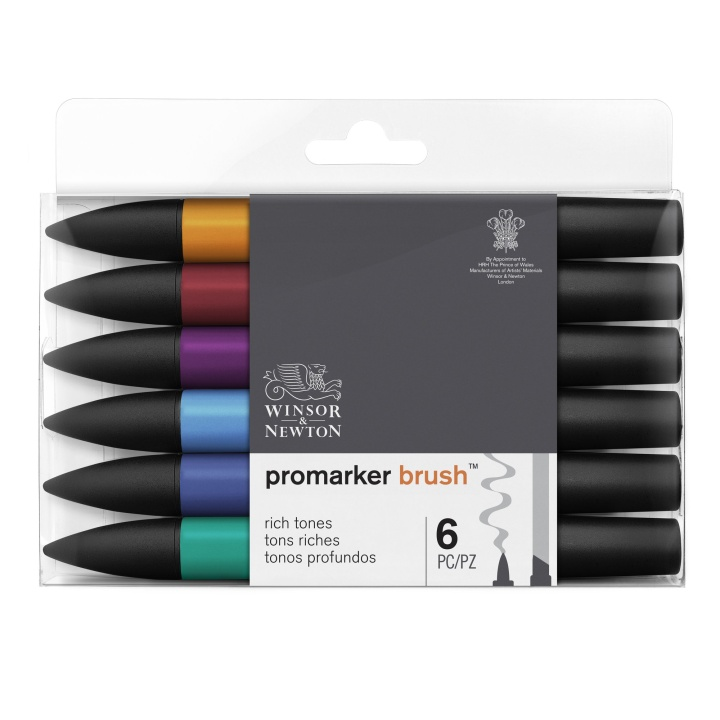 BrushMarker 6-set Rich Tones in the group Pens / Artist Pens / Brush Pens at Pen Store (100554)