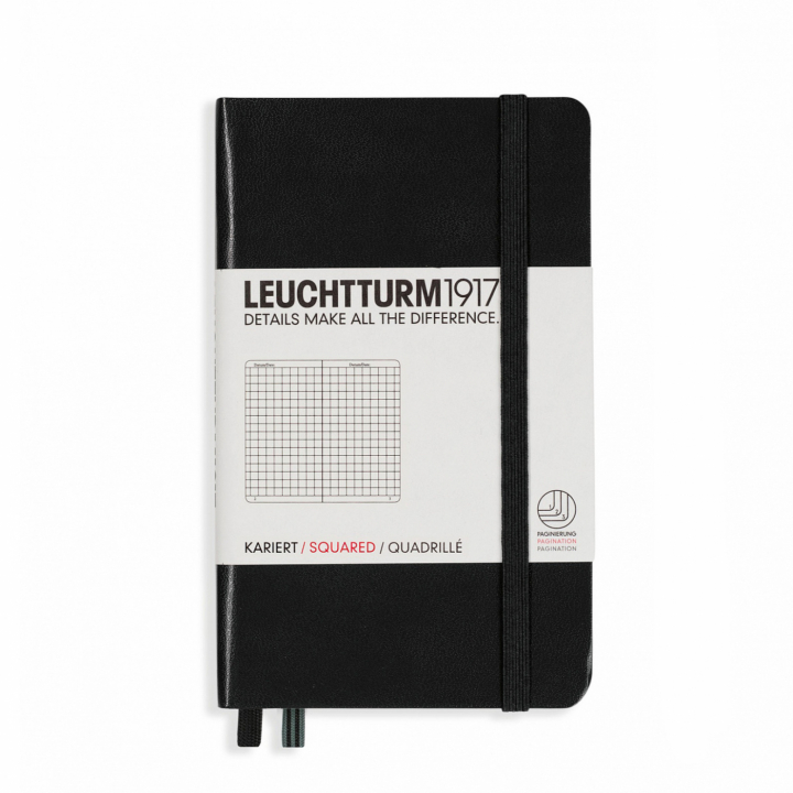 Notebook A6 Pocket Squared Black in the group Paper & Pads / Note & Memo / Notebooks & Journals at Pen Store (100721)