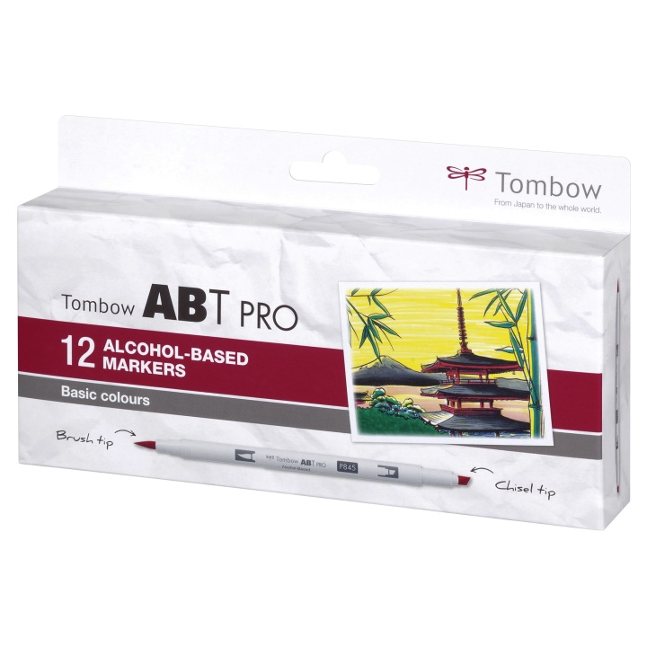 ABT PRO Dual Brush Pen 12-set Basic in the group Pens / Artist Pens / Brush Pens at Pen Store (101254)