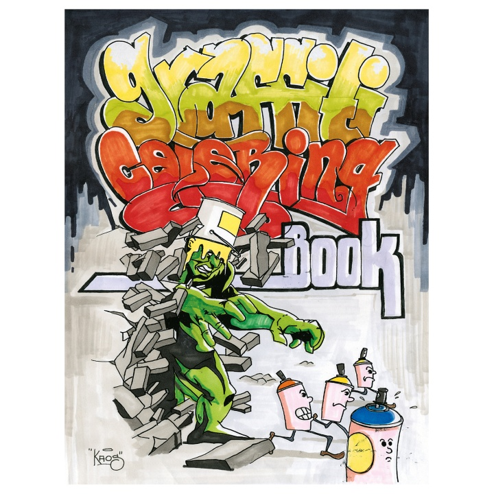 Graffiti Coloring Book in the group Hobby & Creativity / Books / Coloring Books for Kids at Pen Store (101370)