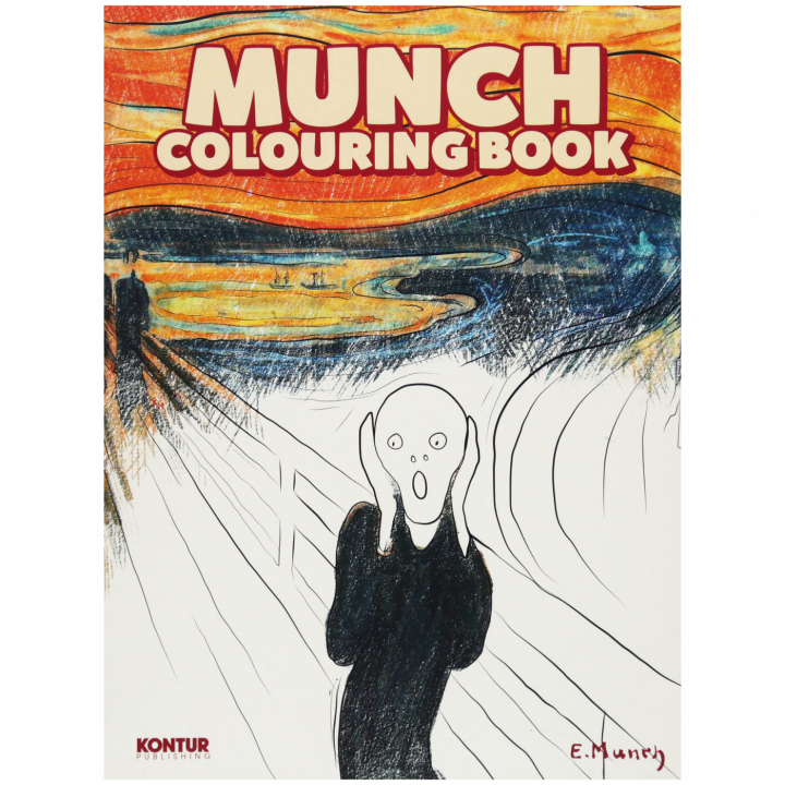 Munch Colouring Book in the group Hobby & Creativity / Books / Adult Coloring Books at Pen Store (101374)