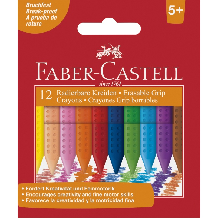 Erasable Crayons - Set of 12 in the group Kids / Kids' Pens / Crayons for Kids at Pen Store (101399)
