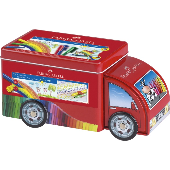 Connector Felt-tip pens Truck - Set of 33 in the group Kids / Kids' Pens / 3 Years+ at Pen Store (101403)