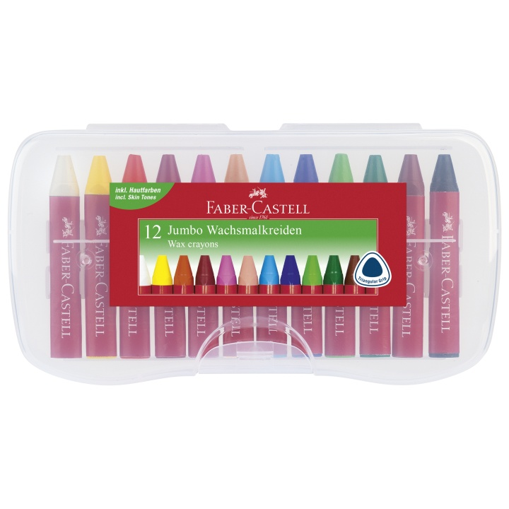 Jumbo Wax Crayons - Set of 12 in the group Kids / Kids' Pens / 3 Years+ at Pen Store (101415)