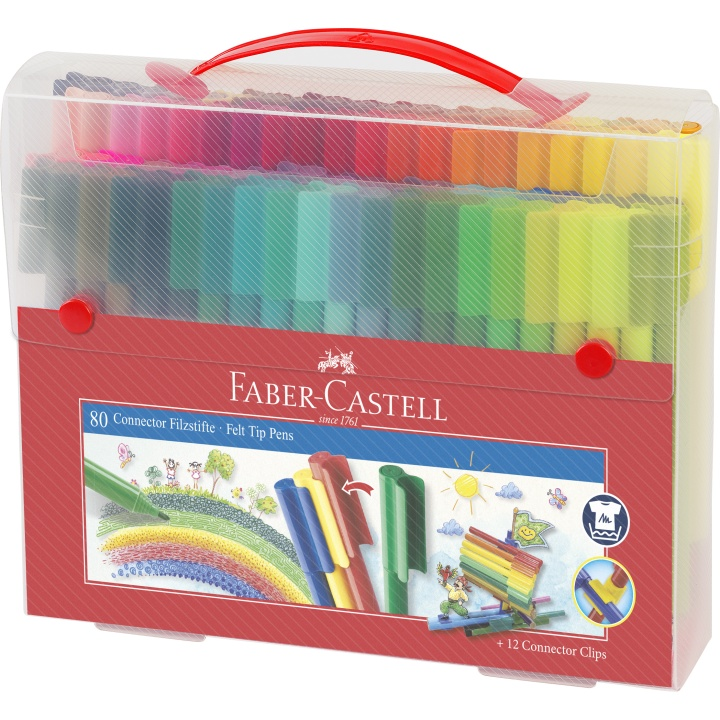 Connector Felt-tip pens - Set of 80 in the group Kids / Kids' Pens / 3 Years+ at Pen Store (101421)
