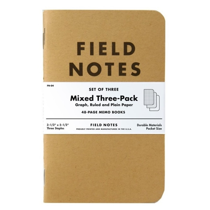 Memo Book Mixed 3-pack in the group Paper & Pads / Note & Memo / Writing & Memo Pads at Pen Store (101426)