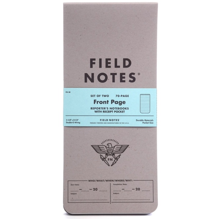 Front Page 2-pack in the group Paper & Pads / Note & Memo / Writing & Memo Pads at Pen Store (101432)