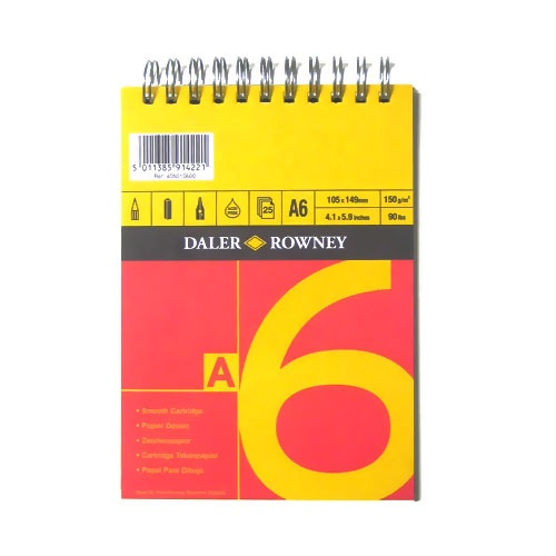 Sketch pad Spiral 150g A6 in the group Paper & Pads / Artist Pads & Paper / Drawing & Sketch Pads at Pen Store (101447)