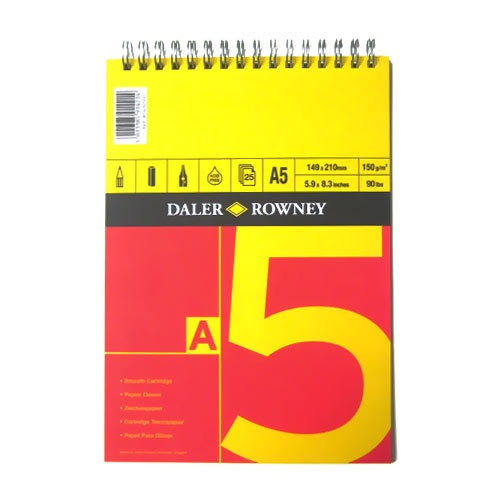Sketch pad Spiral 150g A5 in the group Paper & Pads / Artist Pads & Paper / Drawing & Sketch Pads at Pen Store (101450)
