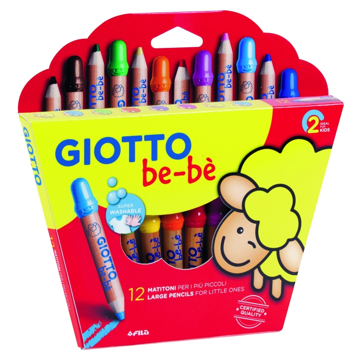 Be-bè Coloring Pencils 12-set in the group Kids / Kids' Pens / 0-2 Years+ at Pen Store (101597)