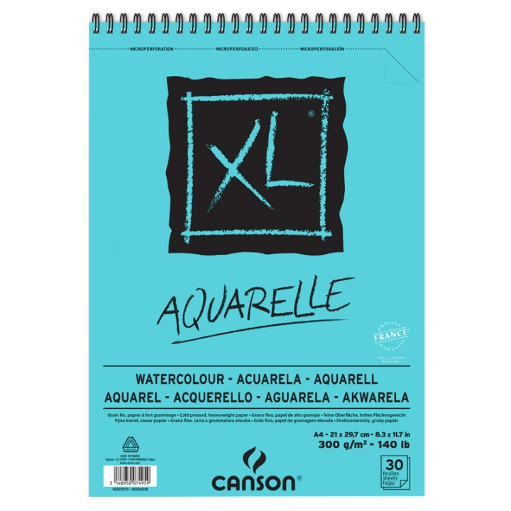 XL Aquarelle 300g A4 in the group Paper & Pads / Artist Pads & Paper / Watercolor Pads at Pen Store (101606)
