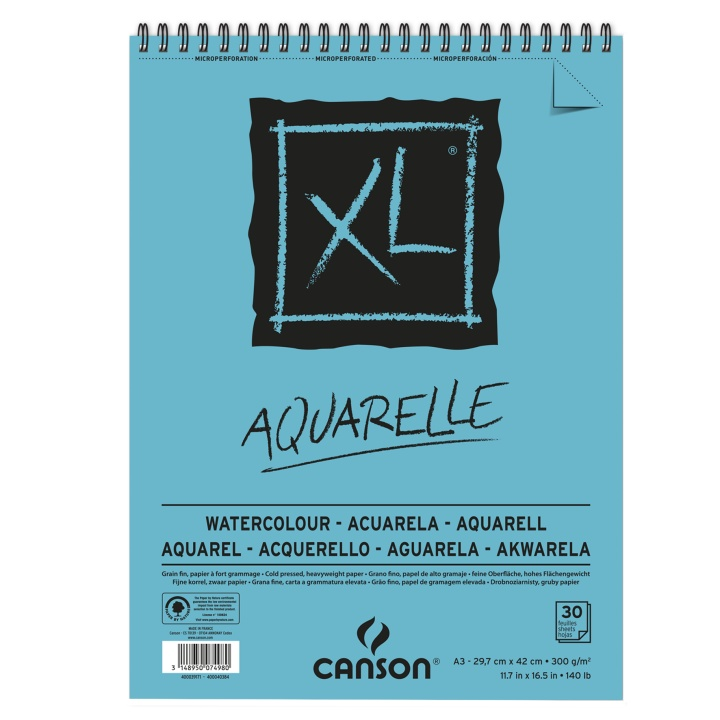 XL Aquarelle 300g A3 in the group Paper & Pads / Artist Pads & Paper / Watercolor Pads at Pen Store (101607)