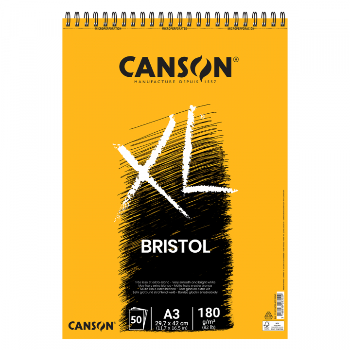 XL Bristol 180g A3 in the group Paper & Pads / Artist Pads & Paper / Marker Pads at Pen Store (101611)