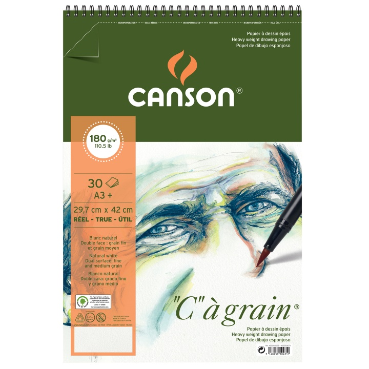 C à grain 180g A3+ in the group Paper & Pads / Artist Pads & Paper / Acrylic Pads at Pen Store (101617)