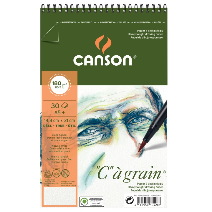 C à grain 180g A5+ in the group Paper & Pads / Artist Pads & Paper / Acrylic Pads at Pen Store (101619)