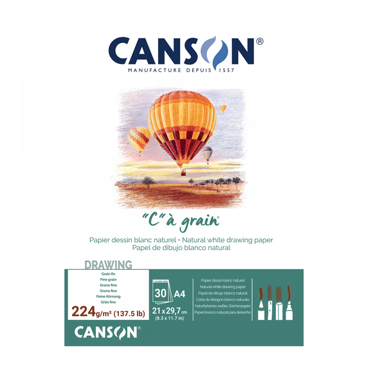 C à grain 224g A4 in the group Paper & Pads / Artist Pads & Paper / Acrylic Pads at Pen Store (101620)