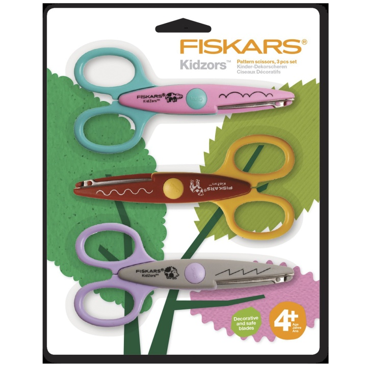 Kidzors Paper Edgers set of 3 - Zoo in the group Kids / Kids' Paint & Crafts / Scissors for Kids at Pen Store (101699)