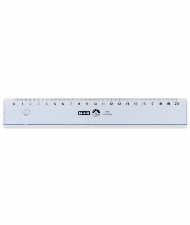 Ruler plastic 20 cm in the group Hobby & Creativity / Hobby Accessories / Rulers at Pen Store (102243)