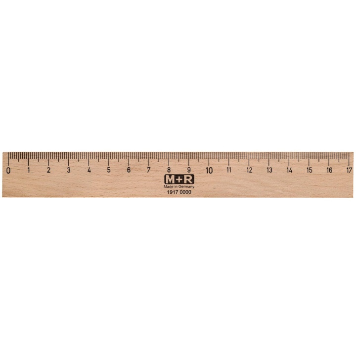 Wooden Ruler 17 cm in the group Hobby & Creativity / Hobby Accessories / Rulers at Pen Store (102246)