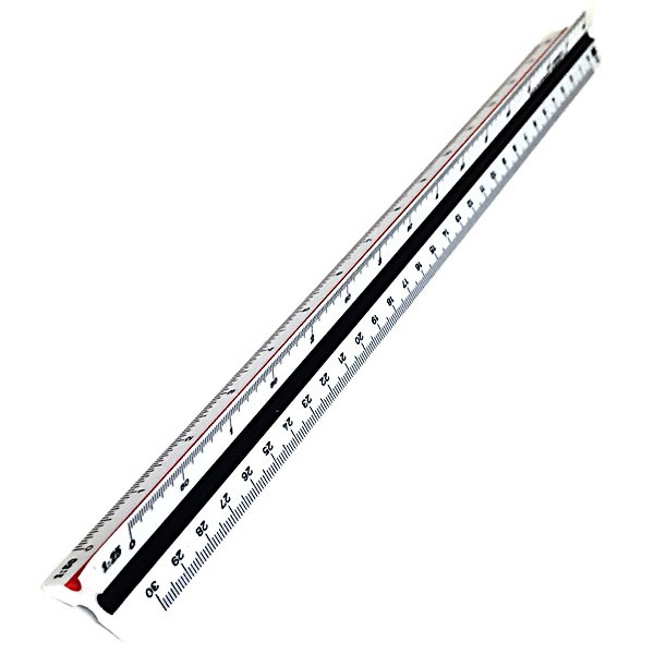 Scale ruler 30 cm 20-125 in the group Hobby & Creativity / Hobby Accessories / Rulers at Pen Store (102250)
