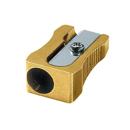 Sharpener Single Wedge Brass in the group Pens / Pen Accessories / Sharpeners at Pen Store (102258)