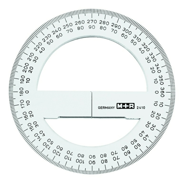 Full-circle protractor in the group Hobby & Creativity / Hobby Accessories / Rulers at Pen Store (102267)