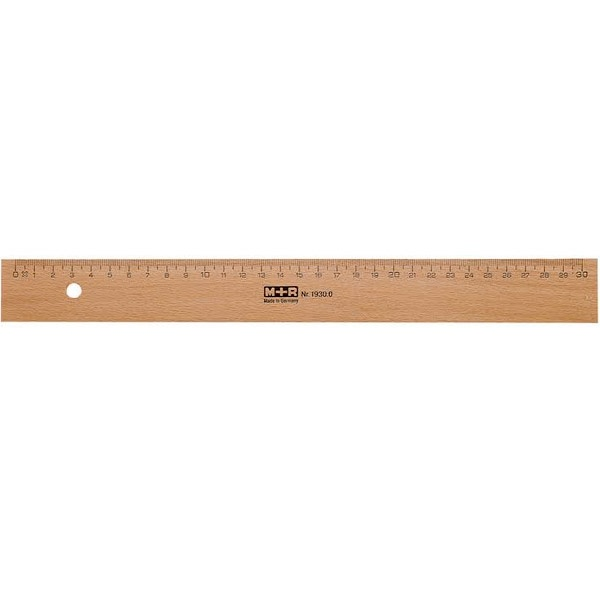 Wooden Ruler 30 cm in the group Hobby & Creativity / Hobby Accessories / Rulers at Pen Store (102290)