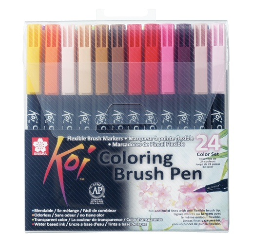 Koi Colouring Brush Pen 24-set in the group Pens / Artist Pens / Brush Pens at Pen Store (102307)