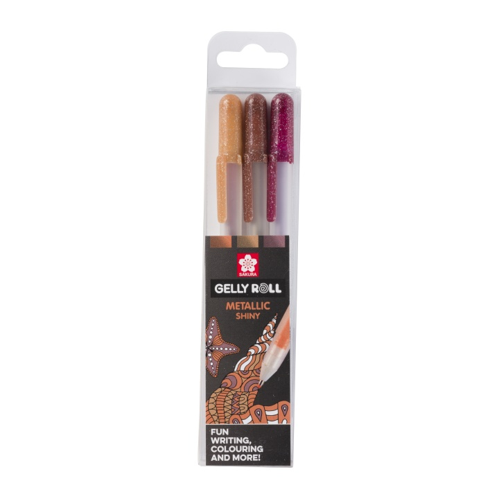 Gelly Roll Metallic Nature 3-pack in the group Pens / Writing / Gel Pens at Pen Store (103590)