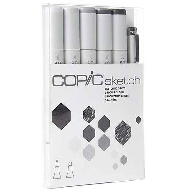 Copic Sketch 5+1 Sketching Grays in the group Pens / Artist Pens / Illustration Markers at Pen Store (103864)