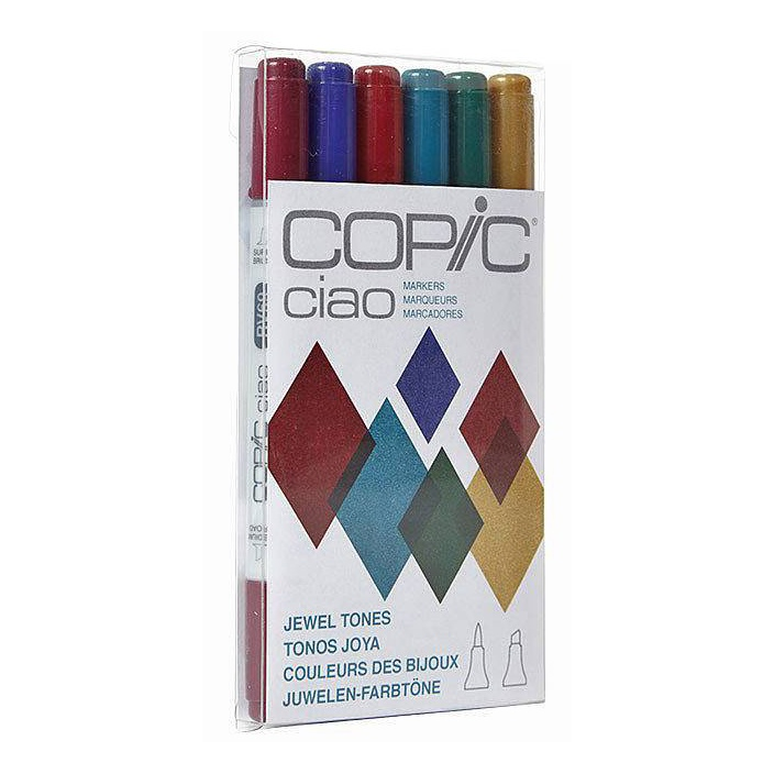 Ciao 6-pack Jewel Tones in the group Pens / Artist Pens / Felt Tip Pens at Pen Store (103870)