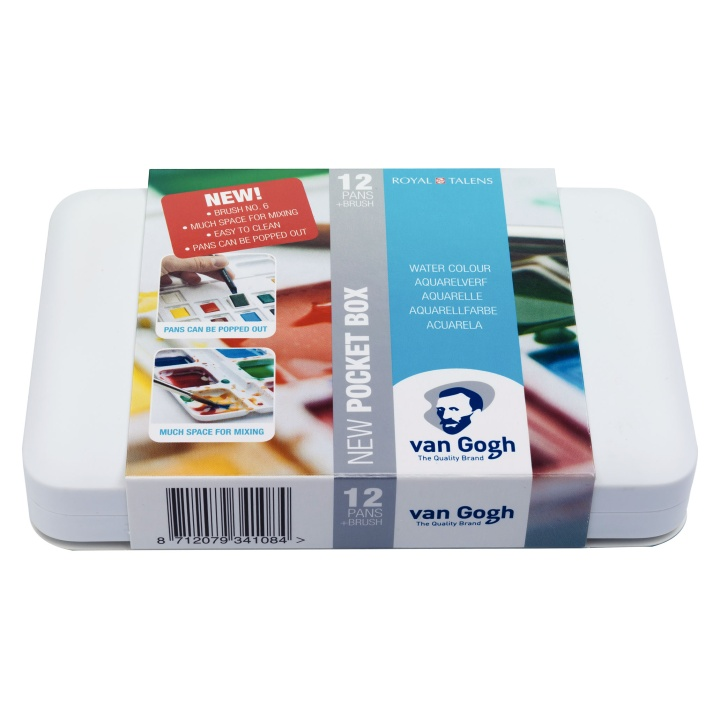 Van Gogh Pocket Box Water Color - Set of 12 in the group Art Supplies / Colors / Watercolor Paint at Pen Store (104062)