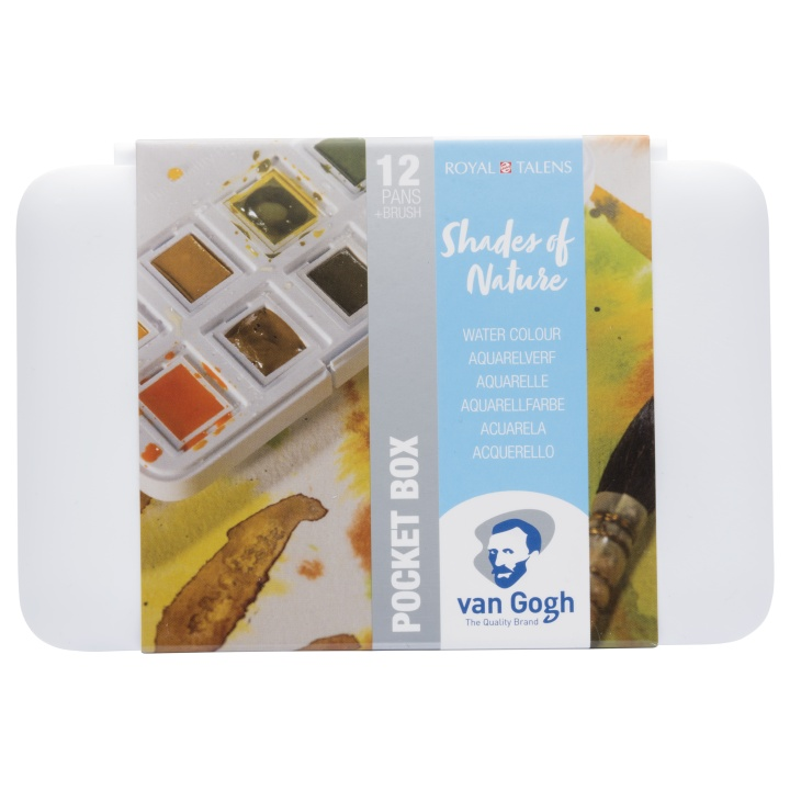 Van Gogh Pocket Box Water Color Nature - Set of 12 in the group Art Supplies / Colors / Watercolor Paint at Pen Store (104065)