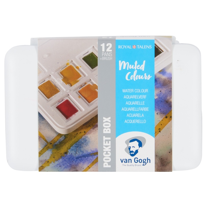 Van Gogh Pocket Box Water Color Muted - Set of 12 in the group Art Supplies / Colors / Watercolor Paint at Pen Store (104067)