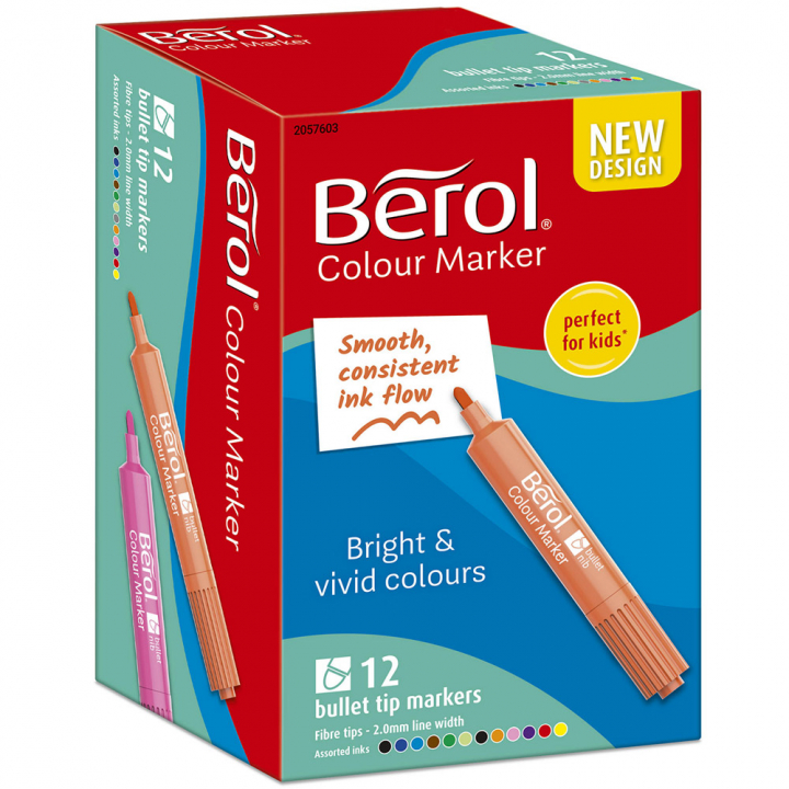 Colour Marker Bullet Tip 12-pack in the group Kids / Kids' Pens / 3 Years+ at Pen Store (104844)