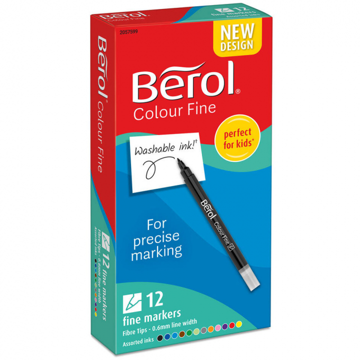 Colour Fine Tip 12-pack in the group Kids / Kids' Pens / 3 Years+ at Pen Store (104848)