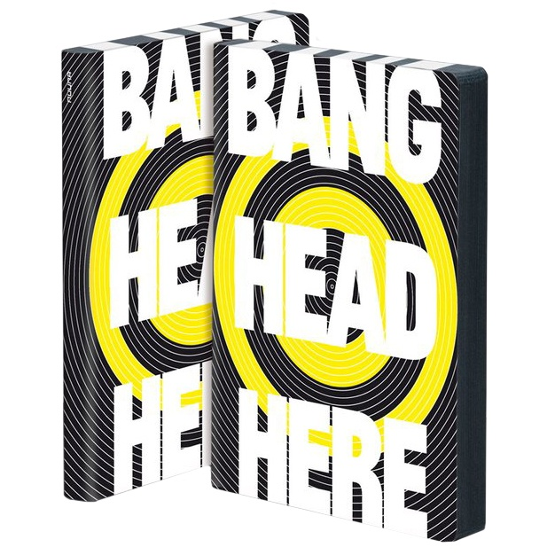 Notebook Graphic L - Bang Head Here in the group Paper & Pads / Note & Memo / Notebooks & Journals at Pen Store (104865)