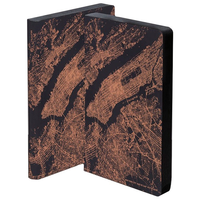 Notebook Graphic Traveller - Nightflight NYC Copper in the group Paper & Pads / Note & Memo / Notebooks & Journals at Pen Store (104888)